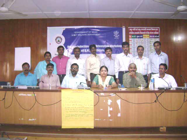 One Day Induction-cum-orientation workshop for all Bihar Mahadalit Vikas Mission's Officials / Staff , dated 03-11-2009